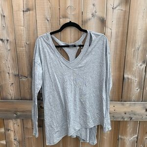 COPY - Zella Grey Long-sleeved Layer Top